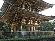 National Treasure Acrylic Prints - Daigo-ji Temple Pagoda 2 - Kyoto Japan Acrylic Print by Daniel Hagerman