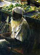 Calcutta Paintings - Daily Bread by Jacquelin Vanderwood