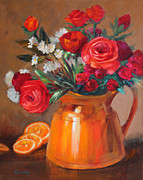 Roses Poppies Paintings - Daily Dose by Sue Cervenka