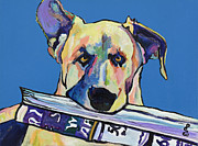 Pat Saunders-white Dog Paintings - Daily Duty by Pat Saunders-White