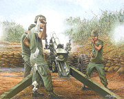 U.s Army Painting Metal Prints - Daily Mail Metal Print by Bob  George