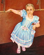 Satin Dress Painting Prints - Dainty Diva Print by Carol Allen Anfinsen