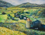 Golds Painting Posters - Dairy Land Poster by Karen McKean