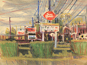 Queen Pastels Framed Prints - Dairy Queen Sign Framed Print by Donald Maier