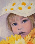 Little Girl Prints - Daisey Print by Shirl Theis