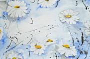 Daisies - Flower Print by Ismeta Gruenwald
