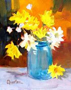 Lori Quarton - Daisies in Blue