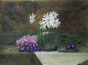 DG Ewing - Daisies in Green Vase