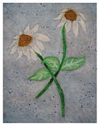 Daisies In Stormy Skies Print by Jennifer Schwab