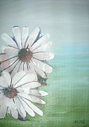 Research Paintings - Daisies by Megan Zilm