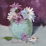 Lori Quarton - Daisies Purple And White