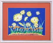 Original  By Artist Paintings - Daisies by Ron Davidson