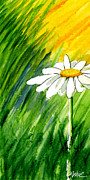 Bright Colors Metal Prints - Daisy 1 of 3 Metal Print by Annie Troe