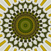 Mandala Photos - Daisy Chain Mandala Series Number 16 by Carrie Cranwill