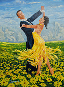 Ballroom Paintings - Daisy Dancers by Paint The Floor