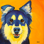 Dog Pop Art Paintings - Daisy by Debi Pople