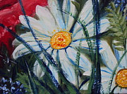 Original Paining Framed Prints - Daisy   Framed Print by Drinka Mercep
