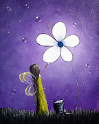 Light Purple Posters - Daisy Fairy by Shawna Erback Poster by Shawna Erback