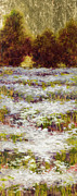 Drips Paintings - Daisy Field Series by Vic  Mastis