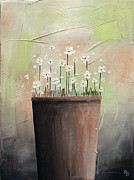Home Art Metal Prints - Daisy In Pot2 Metal Print by Home Art