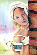 Aceo Original Originals - Daisy by Maria Pia Guarneri
