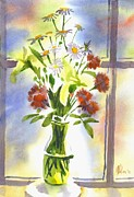 Water Colour Painting Originals - Daisy Supreme by Kip DeVore