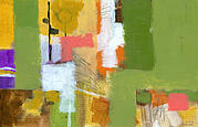 Abstract Expressionism Paintings - Dakota Street 5 by Douglas Simonson