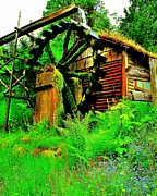 Lush Green Framed Prints - Dalby Water Wheel Framed Print by Benjamin Yeager