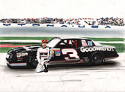 Crowd Mixed Media Prints - Dale Earnhardt Goodwrench Monte Carlo Print by Paul Kuras