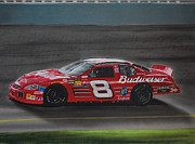 Tire Mixed Media Originals - Dale Earnhardt Junior at California by Paul Kuras