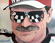 Nascar Paintings - Dale Earnhardt Sr by Tom Carlton