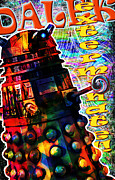Patrick Mixed Media - Dalek Exterminate by Mark Compton