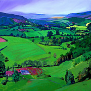 England Paintings - Dales Patchwork by Neil McBride