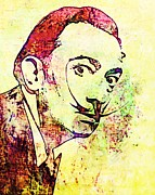 Salvador Mixed Media - Dali by Ellot Halt