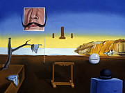 Rene Magritte Paintings - Dali s Mustache Magritte s Bowler by Michael Bridges