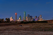 Dallas Skyline Metal Prints - Dallas at Dusk Metal Print by Mark Whitt
