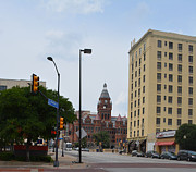 City Streets Photo Originals - Dallas County Courthouse by Ruth  Housley