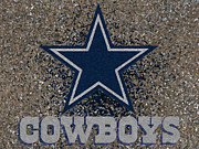 Dallas Cowboys Prints - Dallas Cowboys Print by Jack Zulli
