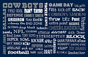 Dallas Cowboys Prints - Dallas Cowboys Print by Jaime Friedman