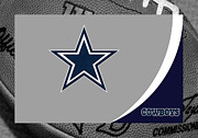 Football Helmets Posters - Dallas Cowboys Poster by Joe Hamilton