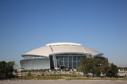 Football Fans Prints - Dallas Cowboys Stadium Print by Frank Romeo