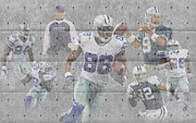 Dallas Posters - Dallas Cowboys Team Poster by Joe Hamilton