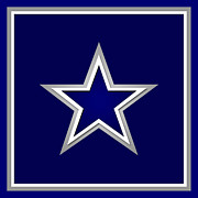 Logo Mixed Media Posters - Dallas Cowboys Poster by Tony Rubino