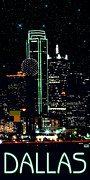 Dallas Digital Art Framed Prints - Dallas Downtown Framed Print by Jim Sanders
