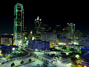 Nightscapes Prints - Dallas HDR 007 Print by Lance Vaughn