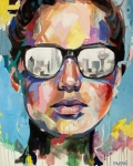 Portraits Painting Prints - Dallas Print by Julia Pappas
