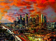 Dallas Digital Art Metal Prints - Dallas Metal Print by Marie-Diana Leveque