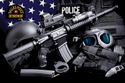 Dallas Texas Framed Prints - Dallas Police Tactical Framed Print by Gary Yost