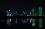 Dallas Texas Framed Prints - Dallas Reflections Framed Print by Charles Dobbs