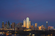 Dallas Skyline Framed Prints - Dallas Skyline at Dusk Framed Print by Rob Greebon